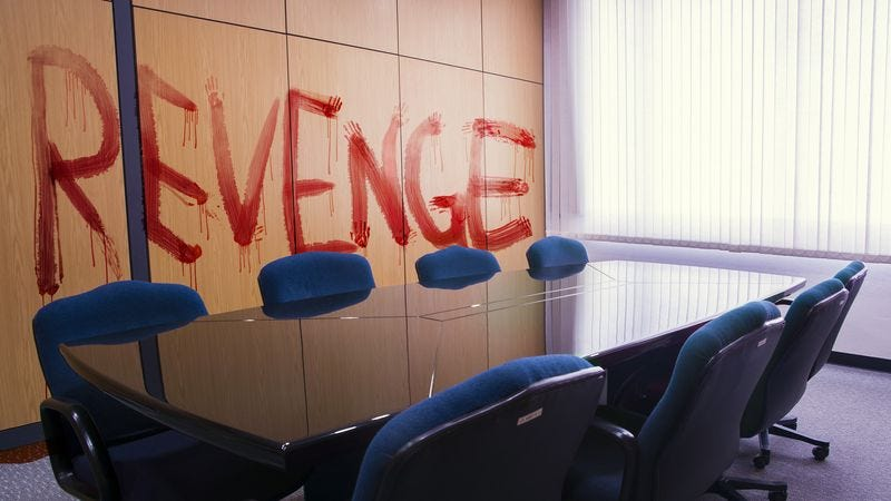 Illustration for article titled HR Sends Out Reminder Email About Not Scrawling 'Revenge' In Blood In Conference Room