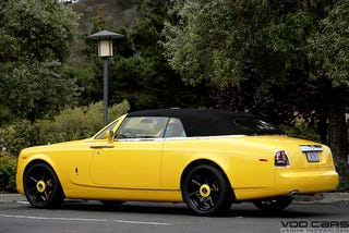 Illustration for article titled Nick Hogan's Rolls Royce Phantom Drophead Coupe At Pebble Beach