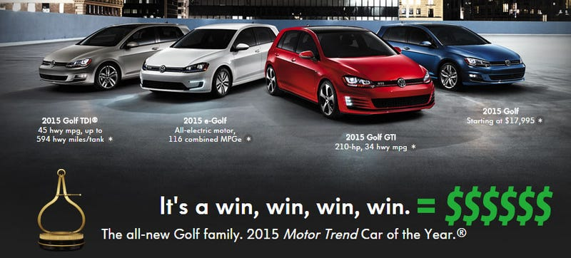 Illustration for article titled Volkswagen Jacks Up Price On GTI After Winning All The Awards