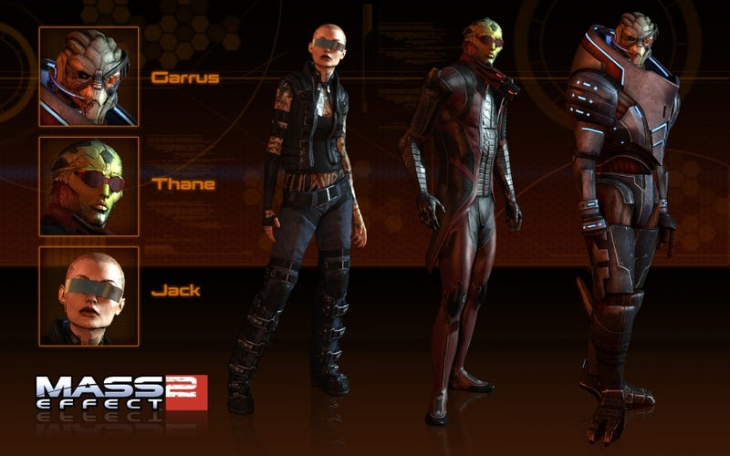 Illustration for article titled Mass Effect 2 Characters Get New Wardrobe Options