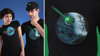 Illustration for article titled That's No Moon, It's a Light Up Shirt With Sound Effects