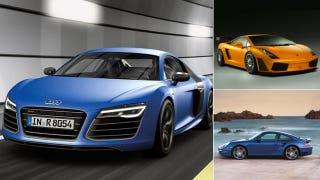 Illustration for article titled Daily Drive, Track, Burn: Audi R8, Porsche 911 Turbo, Lamborghini Gallardo