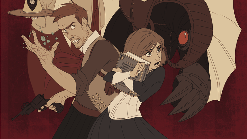 Illustration for article titled What if Bioshock: Infinite was an animated movie?