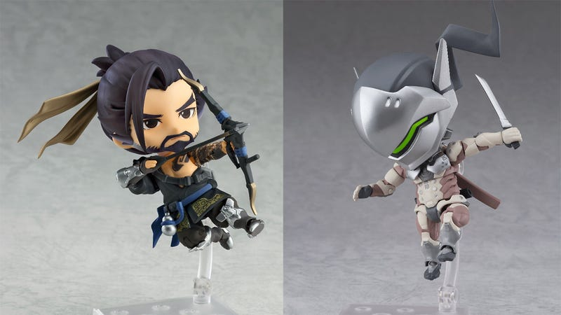 Illustration for article titled Look At These Little Hanzo And Genji Action Figures
