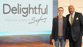 CEO of the Match Group, and OkCupid co-founder, Sam Yagan and Steve HarveyDelightful