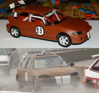 Illustration for article titled It Had To Happen Someday: 24 Hours Of LeMons 1:24 Scale Model!