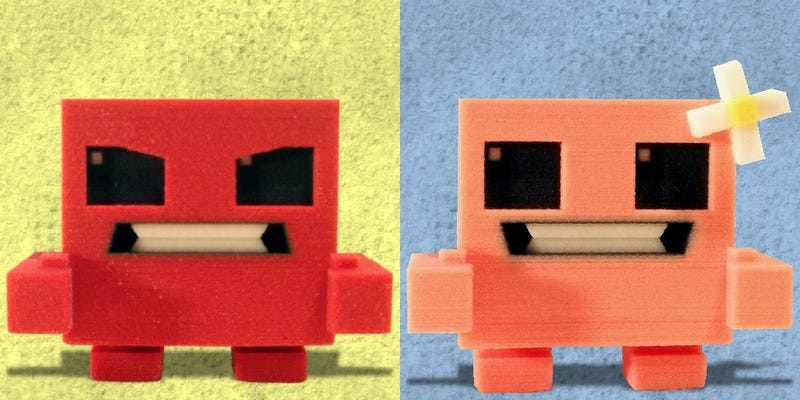Illustration for article titled The First Four Super Meat Boy Figurines Have Arrived