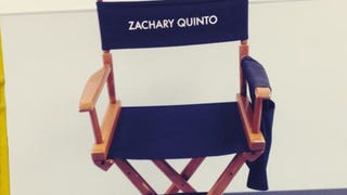 Illustration for article titled Zachary Quinto's Empty Actor Chair On The Set of Star Trek 2