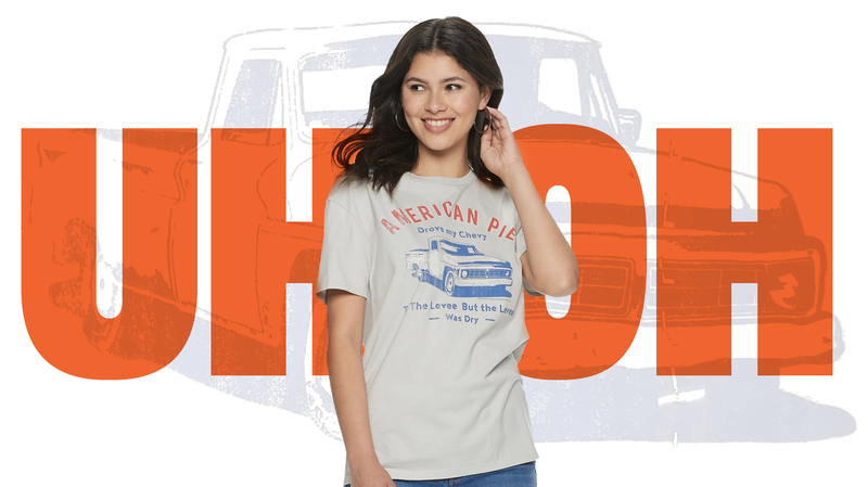 Illustration for article titled Kohl's Is Selling a T-Shirt with a Truck on It That Could Inspire Fights and Riots