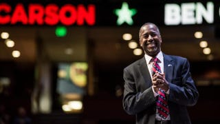 Republican presidential hopeful Ben Carson at a candidates forum Sept. 18, 2015, in Greenville, S.C.Sean Rayford/Getty Images