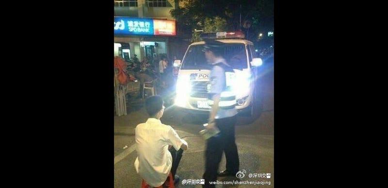 Photo Credit: The Shenzhen traffic police's Weibo account