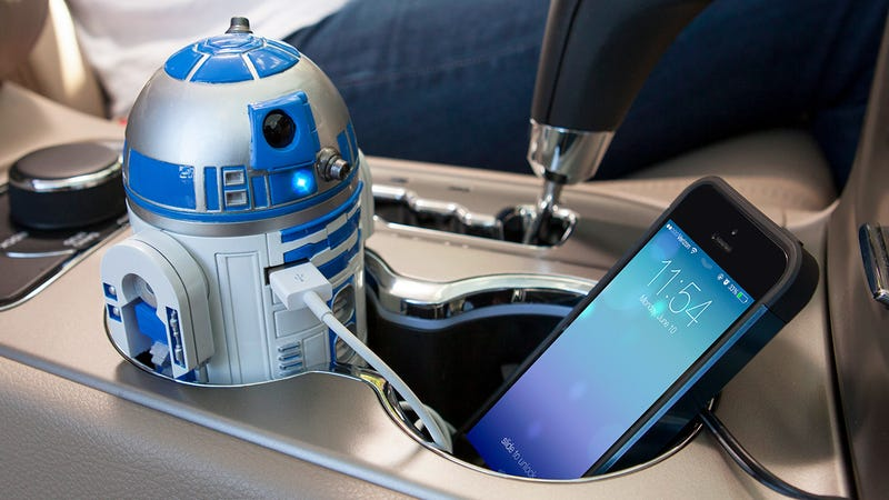 Illustration for article titled There's No Better Use For Cup Holders Than This R2-D2 USB Charger