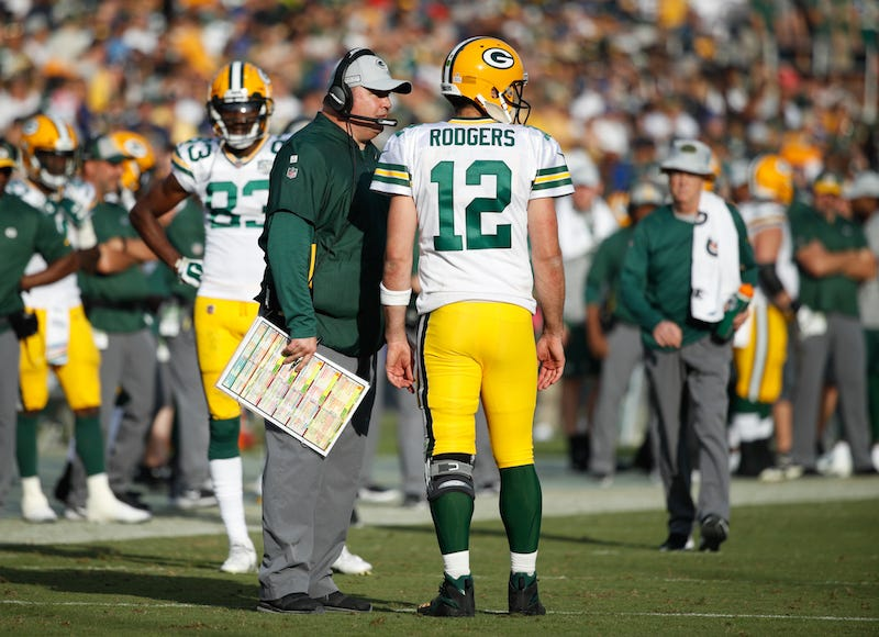 Illustration for article titled Sounds Like Aaron Rodgers And Mike McCarthy Are Pretty Well Sick Of Each Other