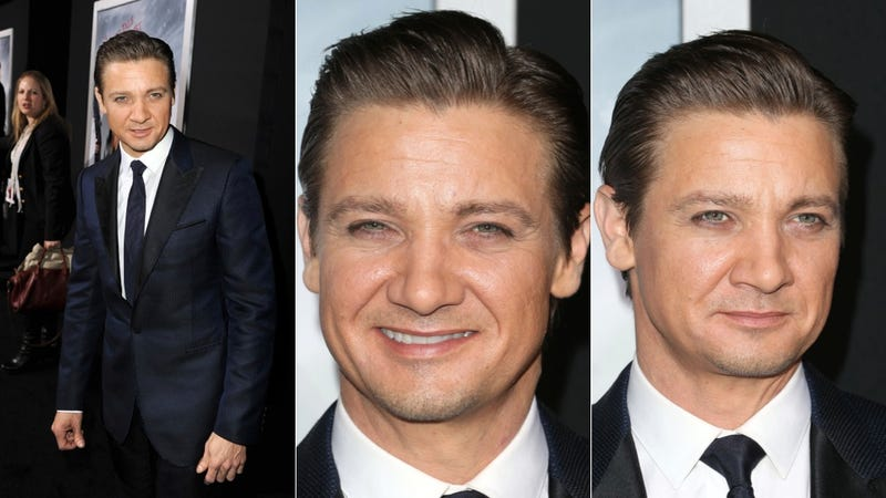 Illustration for article titled Guys, Is Jeremy Renner Wearing a Bucketload of Makeup?