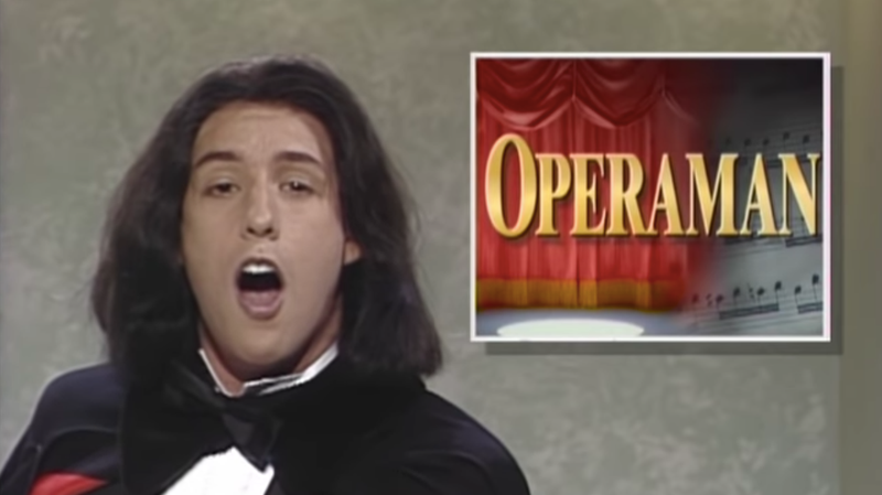 Illustration for article titled Adam Sandler's hosting SNL for the first time next month and we better get some Opera Man