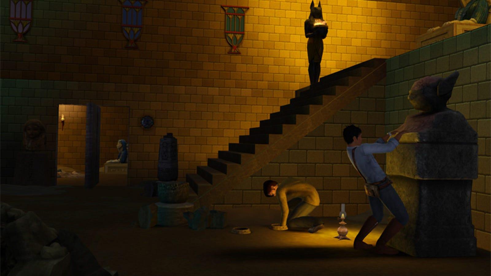 the sims 3 world adventures goes underground