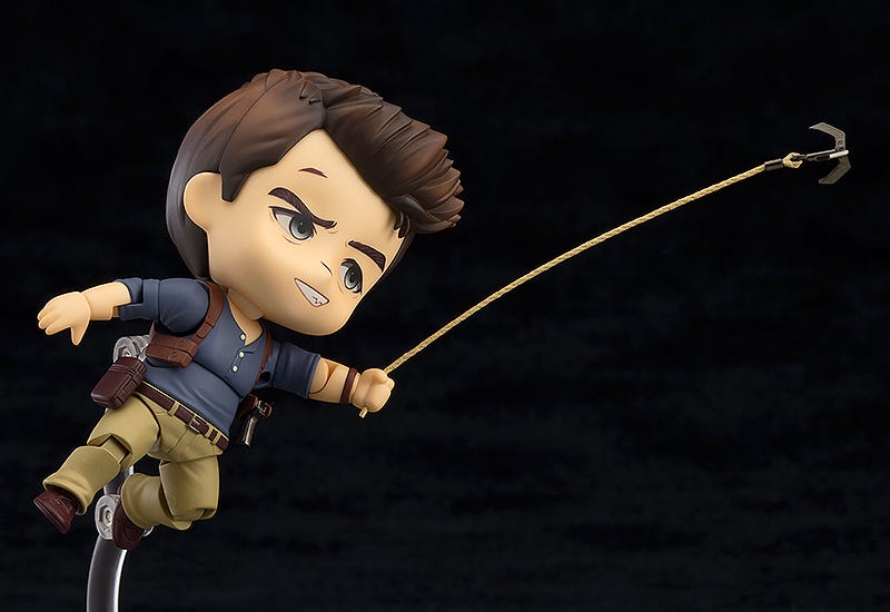 Illustration for article titled Tiny, Big-Headed Nathan Drake Is Ready For Action