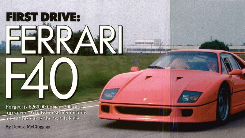 Illustration for article titled This week in 1988: We drive the Ferrari F40