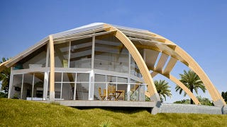 Illustration for article titled This House Provides Sustainable Energy in a Half-Shell