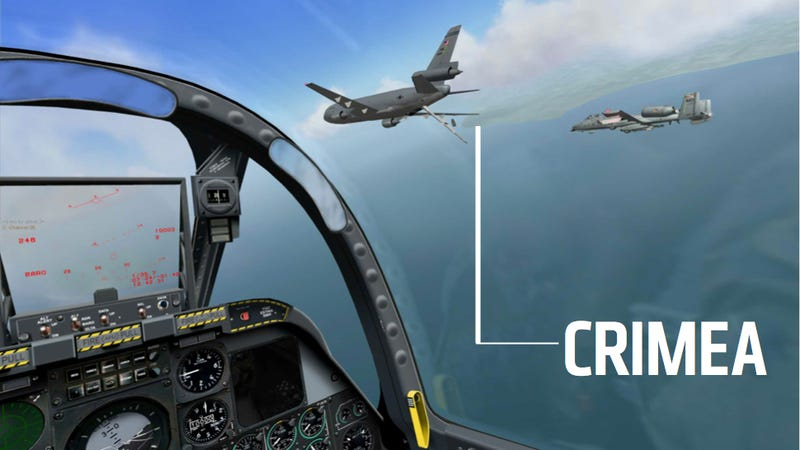 Illustration for article titled Did A Decade Old Russian Flight Sim Predict The Invasion Of Crimea?