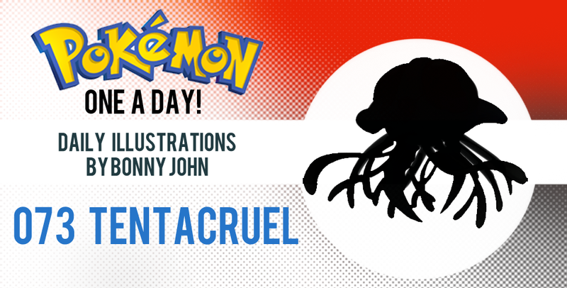 Illustration for article titled The Terrifying Tentacruel!  Pokemon One a Day!