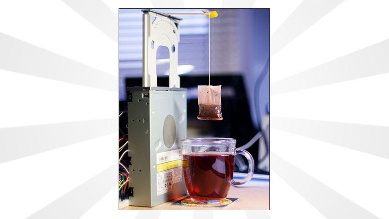 Illustration for article titled Rig Up a Raspberry Pi to An Old CD Tray for An Automated Tea Steeping Device