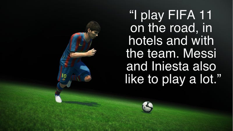 Illustration for article titled Pro Evo Star Caught In Hotel Liaison With FIFA 11