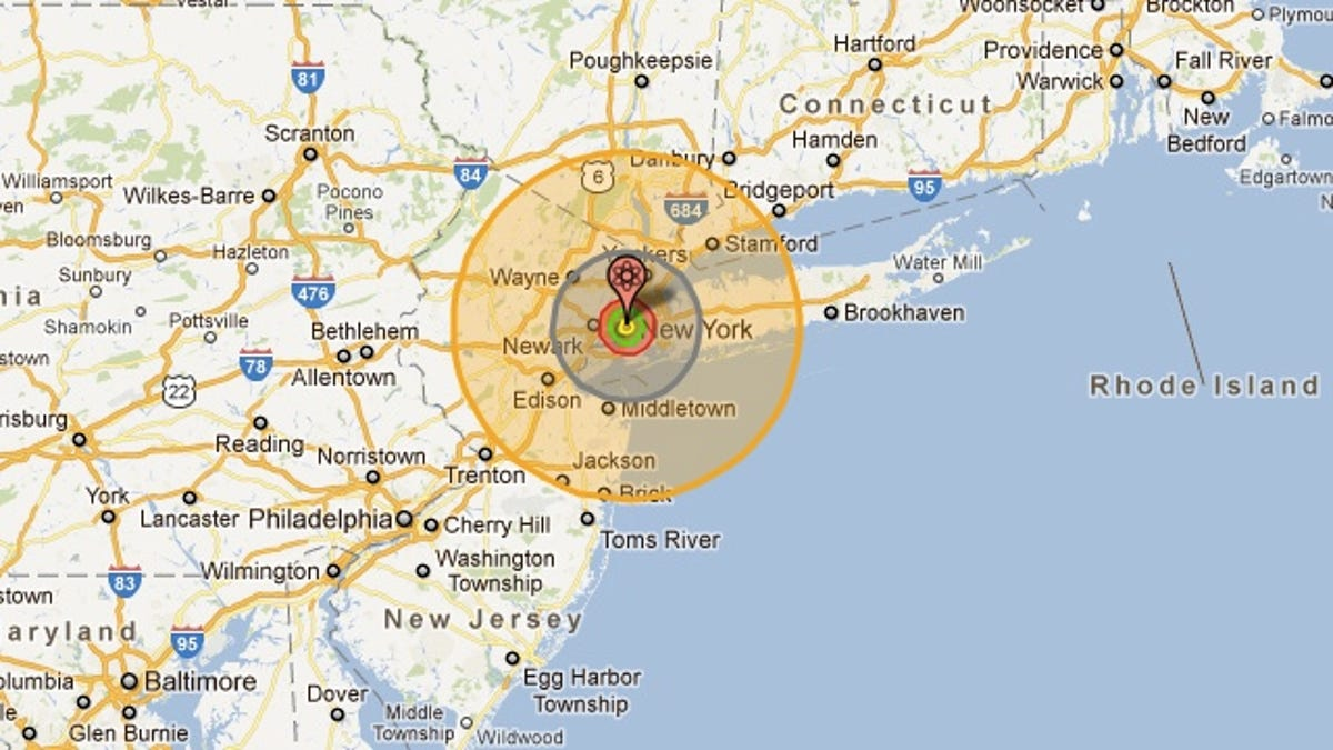 Nukemap allows you to drop famous bombs all over Google Maps