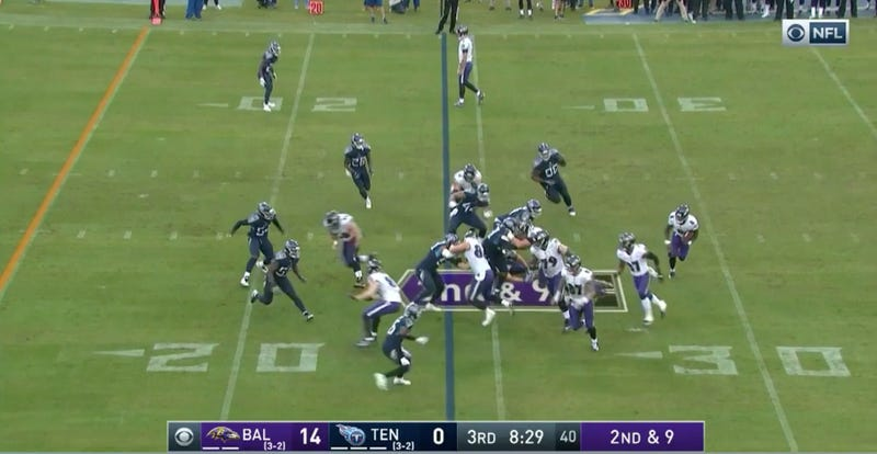 Illustration for article titled Joe Flacco Has Somehow Found A Way To Stand Even Stiller As A Wide Receiver