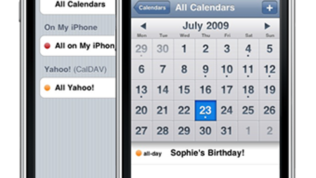 Yahoo Calendar Now Syncs with Your iPhone