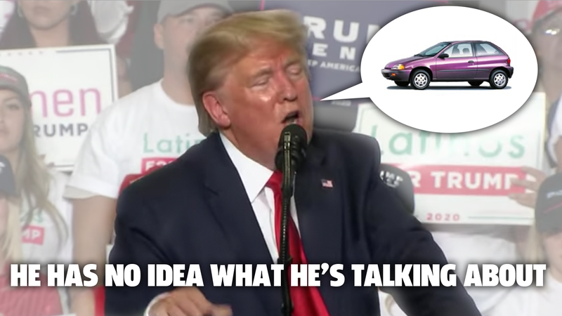 Illustration for article titled Donald Trump Doesn't Know Shit About Cars