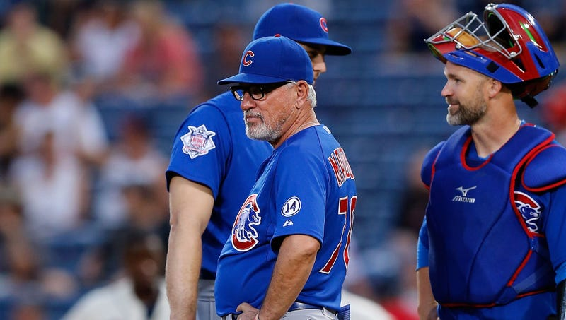 Illustration for article titled Joe Maddon Saves Up All His Mound Visits For One Long Trip In 8th Inning