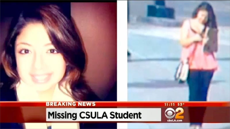 A California State University Los Angeles student has gone missing and  authorities believe her disappearance may be related to a potential date  she had set ...