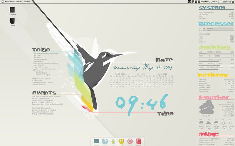 The Colorful Conky Desktop