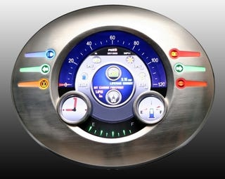 Illustration for article titled Linux-Based Customizable LCD Gauge Cluster Marries 50's Chrome With 00's UI
