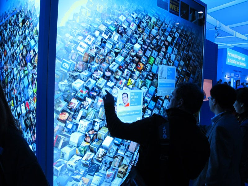 Illustration for article titled Intel's Double-HD MultiTouch Wall Is Incredible