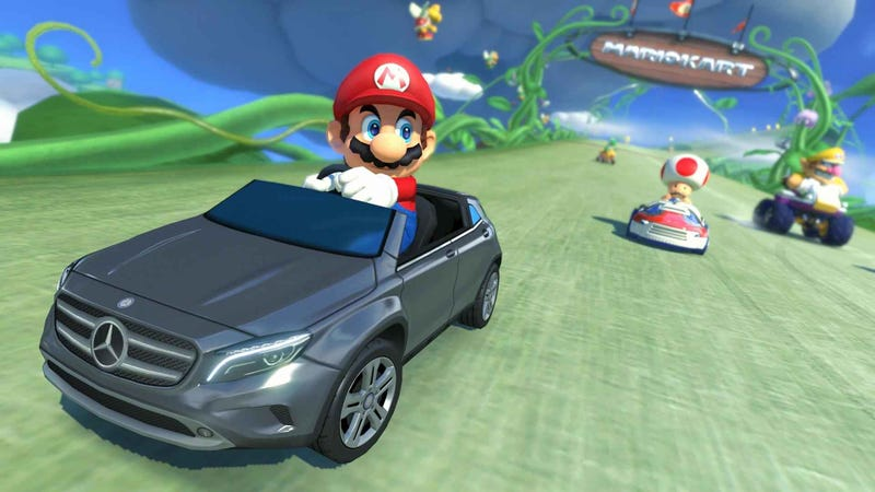 Illustration for article titled Is Mario Kart 8's Mercedes GLA The Future Of Game Product Placement?
