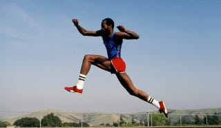Illustration for article titled The Greatest Hurdler In The World Makes His Escape From Perfection