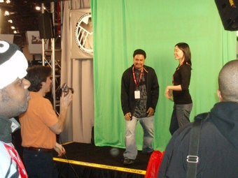 Illustration for article titled Activision's Green Screen A Hit At Comic-Con