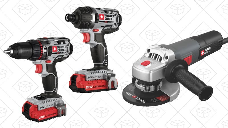 Porter Cable 20V Drill/Driver Kit | $85 | AmazonPorter Cable Angle Grinder | $22 | Amazon