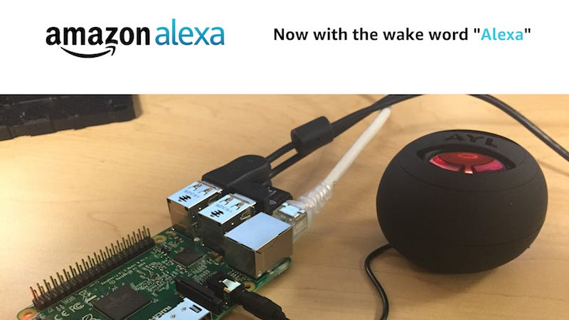 Illustration for article titled You Can Now Trigger Your Raspberry Pi-Powered DIY Alexa with a Wake Word