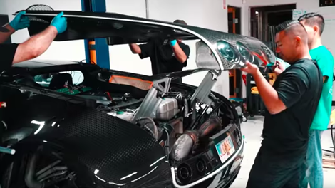 Changing The Oil In A Bugatti Veyron Is A Huge Pain In The Ass