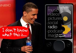 Illustration for article titled Actually, Barack Obama Doesn't Use a Zune