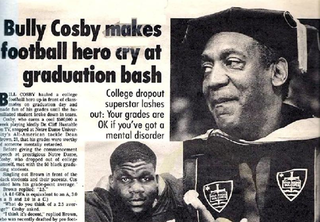Illustration for article titled Bill Cosby Once Publicly Bullied A Notre Dame Football Player To Tears