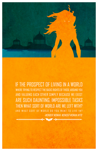 """Illustration for article titled Adam Thompson  Poster Project: """"Heroic Words of Wisdom"""""""