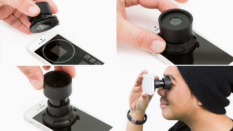 Illustration for article titled Suction Cup Viewfinder Makes Your iPhone Slightly More DSLR-Like