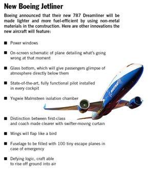 Illustration for article titled New Boeing Jetliner