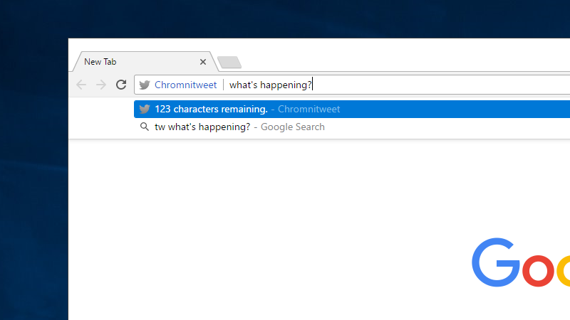 Illustration for article titled Chromnitweet Lets You Tweet From Chrome's Address Bar