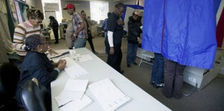 Voters at a Philadelphia polling place (Jessica Kourkounis/Getty Images News)