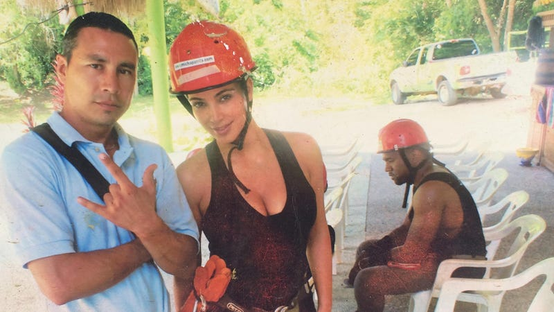 Illustration for article titled This Photo of Sad Kanye on Vacation Speaks for Indoor Kids Everywhere